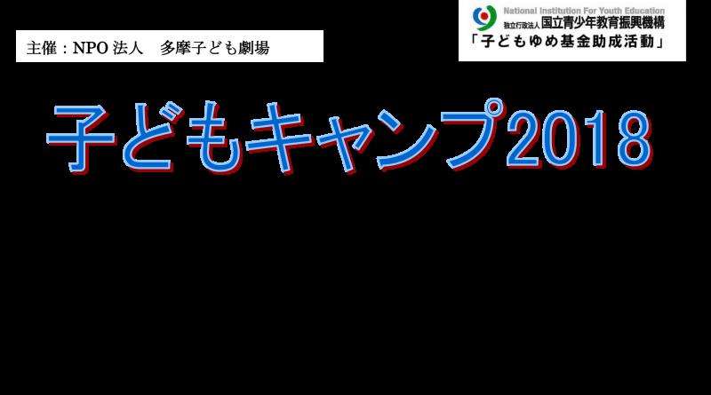 子どもキャンプ2018チラシ表 (1)